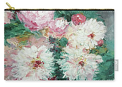 Carry-all Pouch featuring the painting My Chrysanthemums by Barbara Anna Knauf