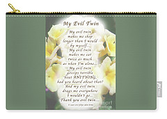 My Evil Twin Greeting Card And Poster Carry-all Pouch by Felipe Adan Lerma
