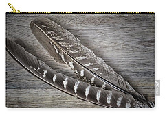 Carry-all Pouch featuring the photograph My Fabulous Feathery Find. by Karen Stahlros