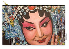 Carry-all Pouch featuring the painting My Fair Lady by Belinda Low