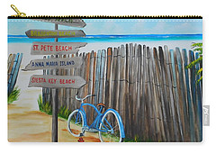 My Favorite Beaches Carry-all Pouch by Lloyd Dobson