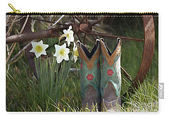 Carry-all Pouch featuring the photograph My Favorite Boots by Benanne Stiens