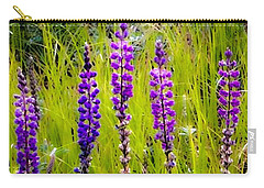 Carry-all Pouch featuring the photograph My Five Lupines by Jennifer Lake