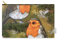 My Friends Robins Carry-all Pouch by Inese Poga