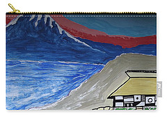 My Fuji House In Japan  Carry-all Pouch by Don Koester