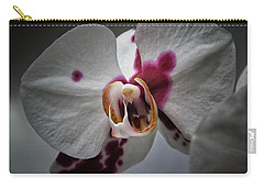 Carry-all Pouch featuring the photograph My Growling Dragon Orchid. by Karen Stahlros