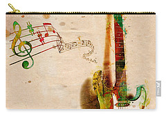 Carry-all Pouch featuring the digital art My Guitar Can Sing by Nikki Smith
