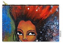 Carry-all Pouch featuring the mixed media My Hair Is Being Pulled By The Stars  by Prerna Poojara