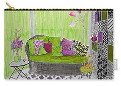 My Happy Place -- Drawing Of Colorful Moroccan Porch Carry-all Pouch