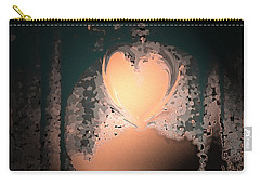 My Heart Is On The Moon Carry-all Pouch by Lenore Senior