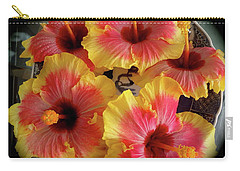 My Hibiscus Garden Carry-all Pouch by Jenny Lee