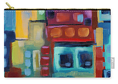 Carry-all Pouch featuring the painting My Jazz N Blues 3 by Holly Carmichael