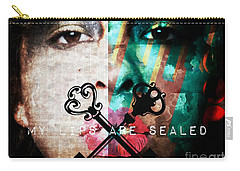 My Lips Are Sealed Carry-all Pouch