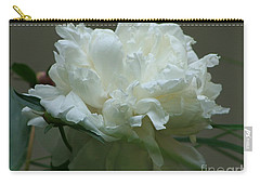 Carry-all Pouch featuring the photograph My Little Peony by Barbara S Nickerson