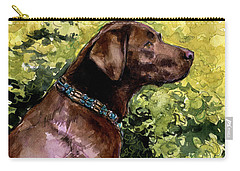 Carry-all Pouch featuring the painting My Lucky Charm by Molly Poole