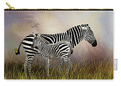 Carry-all Pouch featuring the photograph My Mom Has A Butterfly On Her Tail by Diane Schuster