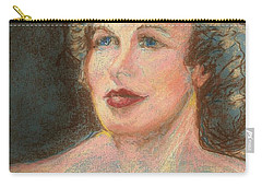 Carry-all Pouch featuring the pastel My Mother by Denise Fulmer