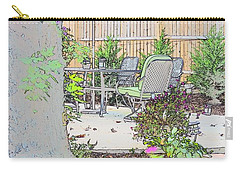 Carry-all Pouch featuring the photograph My Patio by EDi by Darlene
