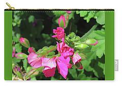 My Pink Geraniums - Floral Art From The Garden Carry-all Pouch by Brooks Garten Hauschild