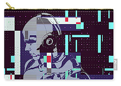 Carry-all Pouch featuring the digital art My Robot by Anthony Murphy