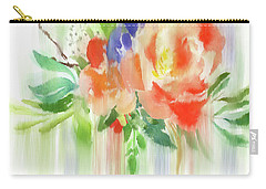 Carry-all Pouch featuring the painting My Roses Gently Weep by Colleen Taylor