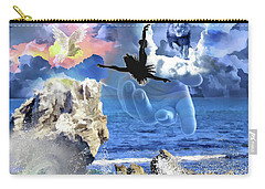 Carry-all Pouch featuring the digital art My Savior by Dolores Develde