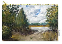 Carry-all Pouch featuring the painting My Secret Boat Ramp by Jim Phillips