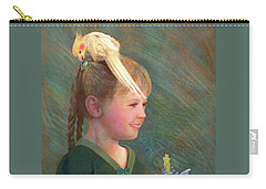Carry-all Pouch featuring the painting My Sparkly Trinket by Nancy Lee Moran