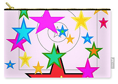 Carry-all Pouch featuring the painting My Stars by Denise Fulmer