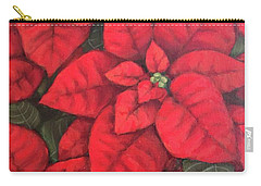 My Very Red Poinsettia Carry-all Pouch by Inese Poga