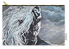 My White Dream Horse Carry-all Pouch by AmaS Art