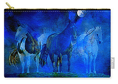Carry-all Pouch featuring the painting My Whole World Turns Misty Blue by Hanne Lore Koehler