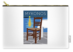 Mykonos Empty Chair - Blue Carry-all Pouch