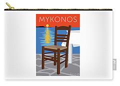 Mykonos Empty Chair - Orange Carry-all Pouch