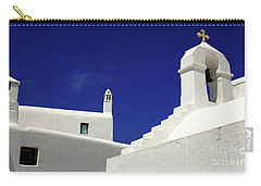 Carry-all Pouch featuring the photograph Mykonos Greece Architectual Line 5 by Bob Christopher