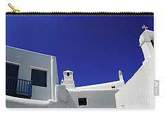 Carry-all Pouch featuring the photograph Mykonos Greece Clean Line Architecture by Bob Christopher