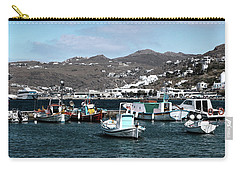 Carry-all Pouch featuring the photograph Mykonos Greece II by Tom Prendergast