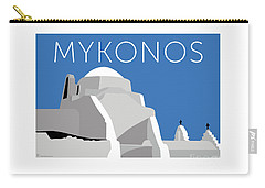 Mykonos Paraportiani - Blue Carry-all Pouch