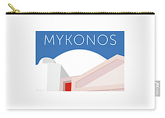 Mykonos Walls - Blue Carry-all Pouch