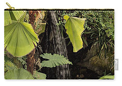 Carry-all Pouch featuring the photograph Myriad Botanical Gardens Waterfall by Sheila Brown