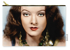 Carry-all Pouch featuring the photograph Myrna Loy by Granger