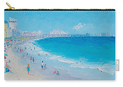 Myrtle Beach And Springmaid Pier Carry-all Pouch by Jan Matson