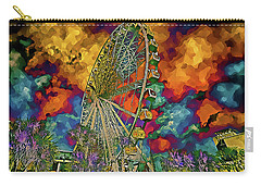 Carry-all Pouch featuring the photograph Myrtle Beach Skywheel Abstract by Bill Barber