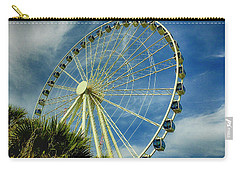 Carry-all Pouch featuring the photograph Myrtle Beach Skywheel by Bill Barber