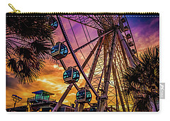 Myrtle Beach Skywheel Carry-all Pouch by David Smith