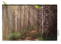 Carry-all Pouch featuring the photograph Mystery At Dawn by Debra and Dave Vanderlaan