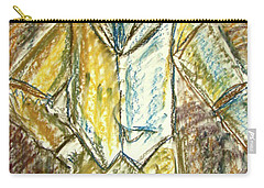 Carry-all Pouch featuring the painting Mystery Man by Cathie Richardson
