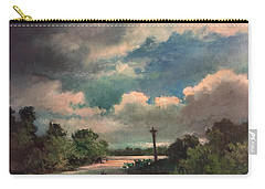 Carry-all Pouch featuring the painting Mystery Of God  The Eye Of God by Randol Burns