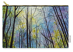 Carry-all Pouch featuring the painting Mystic Forest by Hailey E Herrera