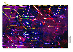 Carry-all Pouch featuring the digital art Mystic Lights 8 by Donna Corless